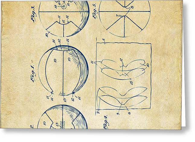 1929 Basketball Patent Artwork - Vintage Greeting Card by Nikki Marie Smith