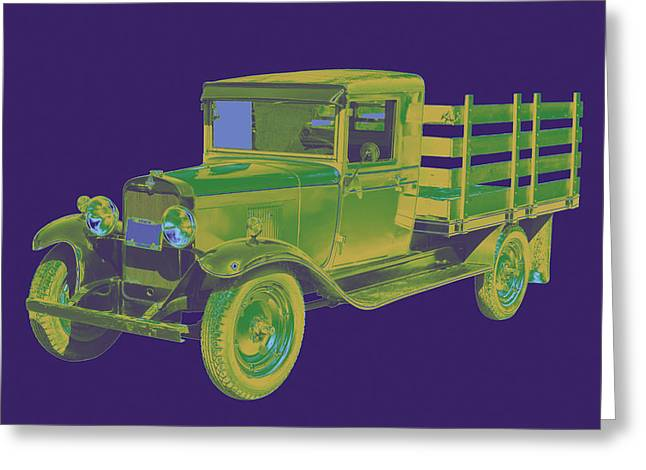 Chevy Pickup Truck Greeting Cards - 1929 chevy truck 1 ton Pop Art Greeting Card by Keith Webber Jr
