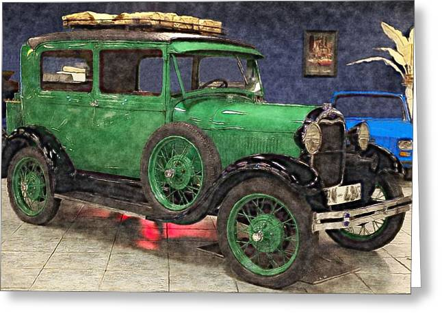 Recently Sold -  - Popular Art Greeting Cards - 1929 Ford Model A by Liane Wright Greeting Card by L Wright