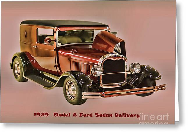 Concord Greeting Cards - 1929 Ford Model A Retro Image Greeting Card by B Wayne Mullins