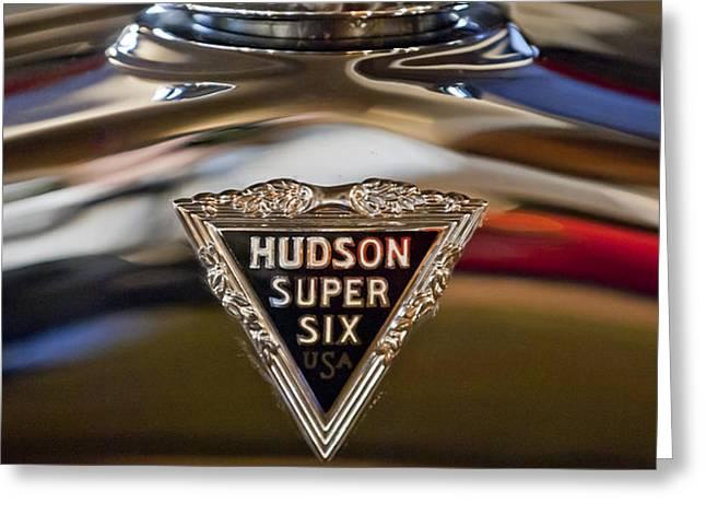 1929 Hudson Cabriolet Hood Ornament Greeting Card by Jill Reger