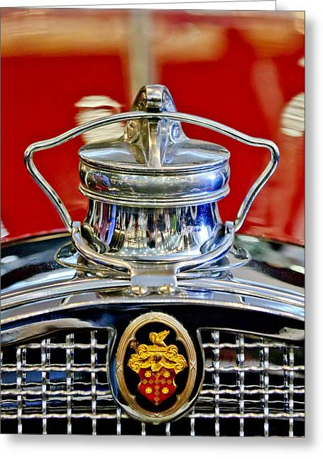 Vintage Hood Ornament Greeting Cards - 1929 Packard 8 Hood Ornament 2 Greeting Card by Jill Reger