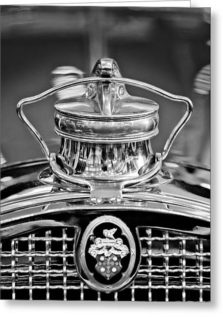 Vintage Hood Ornament Greeting Cards - 1929 Packard 8 Hood Ornament 4 Greeting Card by Jill Reger