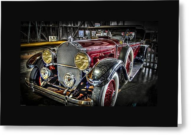 Automobile Greeting Cards - 1929 Packard Phaeton Greeting Card by Thom Zehrfeld