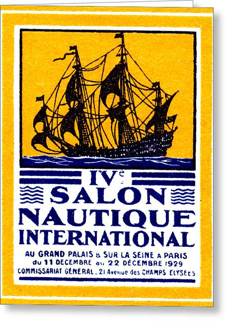 1929 Paris Boat Show Greeting Card by Historic Image