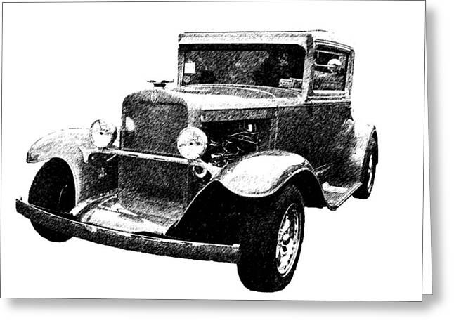 1930 Chevy Greeting Card by Guy Whiteley