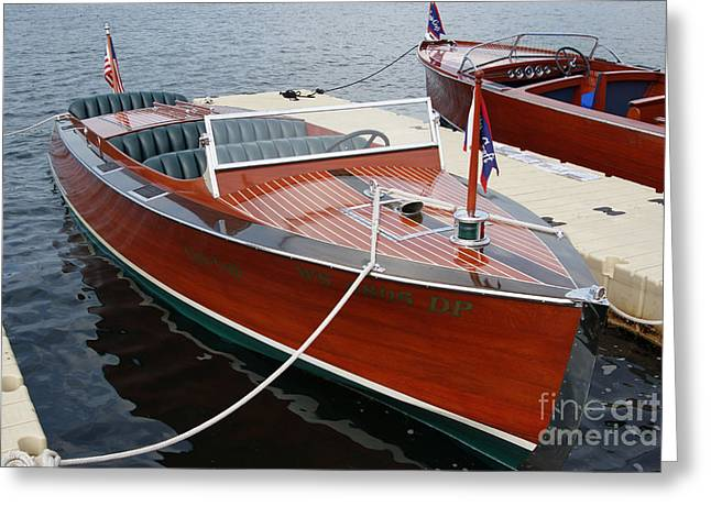 Boat Photographs Greeting Cards - 1930 Chris Craft Greeting Card by Neil Zimmerman