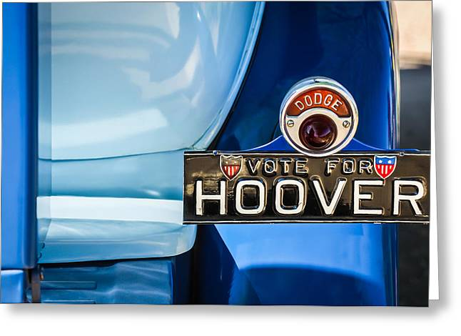1930 Greeting Cards - 1930 DB Dodge Brothers Taillight Emblem -030c Greeting Card by Jill Reger