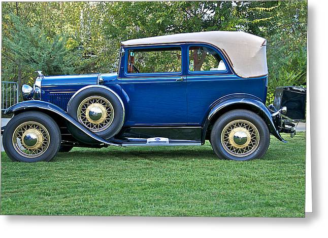 Model A Sedan Greeting Cards - 1930 Ford Model A 400 Convertible Sedan Greeting Card by Dave Koontz