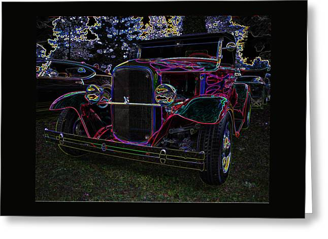 Hot Rod Greeting Cards - 1930 Ford Model A Hot Rod Greeting Card by Thom Zehrfeld