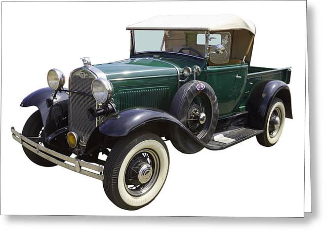 Old Relics Digital Greeting Cards - 1930 Ford Model A Pickup Truck Greeting Card by Keith Webber Jr