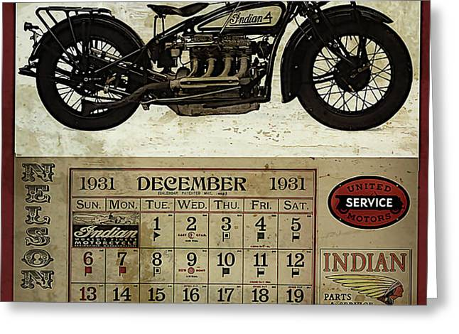 1930 Indian 402 Greeting Card by Cinema Photography