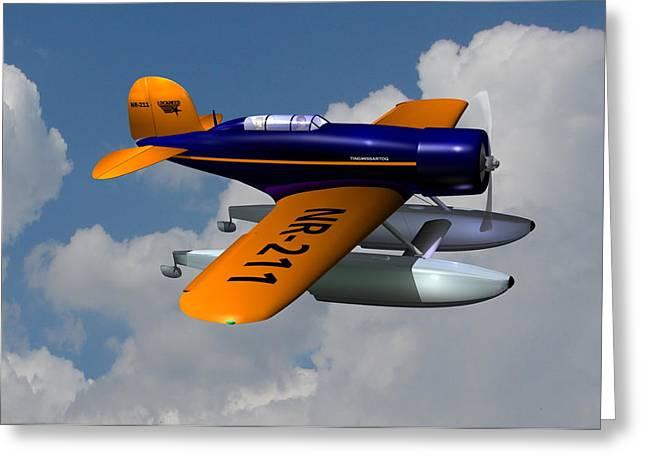Plane Radial Engine Greeting Cards - 1930 Lockheed Model 8 Sirius Greeting Card by Stuart Swartz