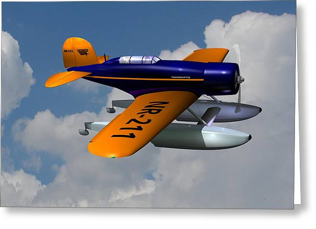 Plane Radial Engine Greeting Cards - 1930 Lockheed Model 8 Sirius Greeting Card by Stuart Swartz