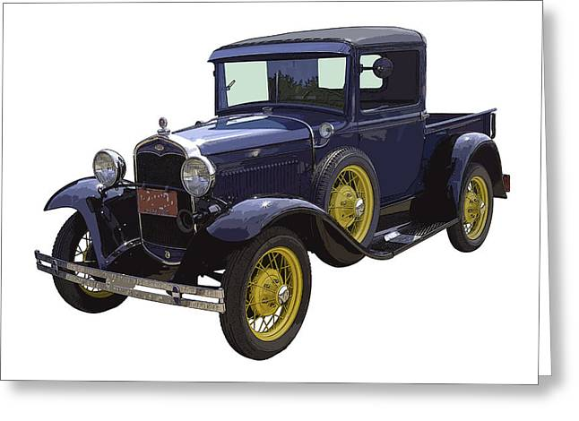 Old Trucks Greeting Cards - 1930 - Model A Ford - Pickup Truck Greeting Card by Keith Webber Jr