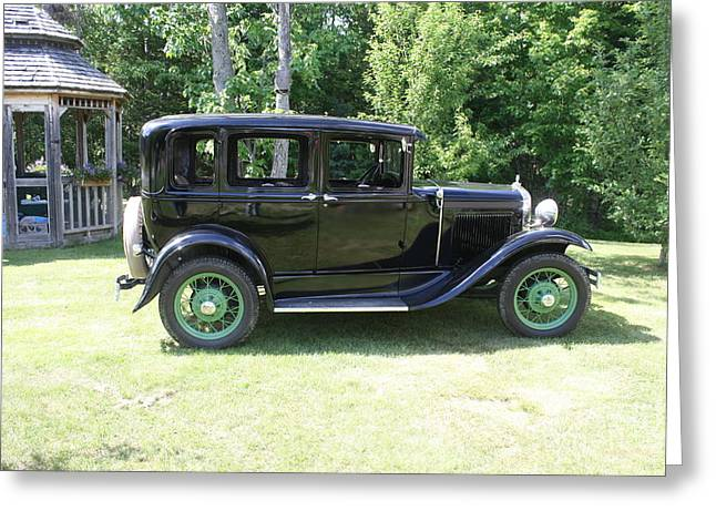 Best Sellers -  - Ford Model T Car Greeting Cards - 1930 Model-A Town Car 1 Greeting Card by Joseph Marquis