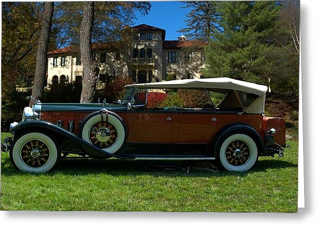 Touring Car Greeting Cards - 1930 Packard 7 Passenger Touring Car Greeting Card by Tim McCullough