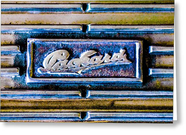 Dual Greeting Cards - 1930 Packard Deluxe Eight 745 Dual Cowl Sport Phaeton Emblem Greeting Card by Jill Reger