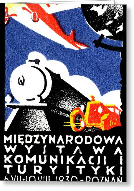 Polish Culture Greeting Cards - 1930 Poznan Poland Expo Poster Greeting Card by Historic Image