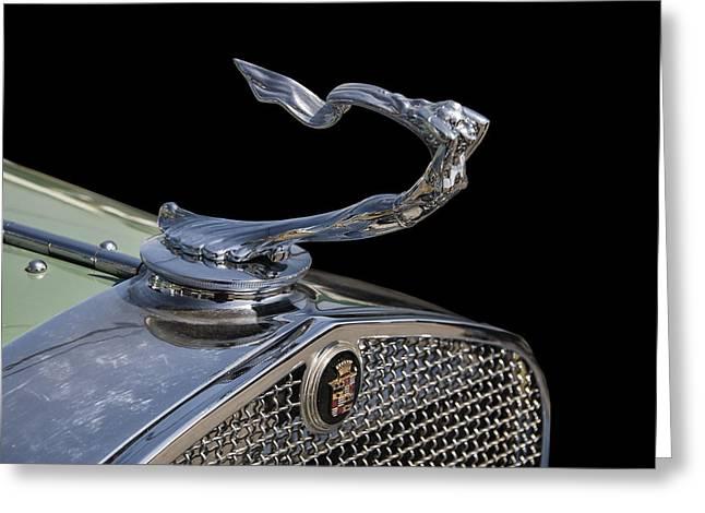 1930s Digital Art Greeting Cards - 1930s Cadillac goddess hood ornament Greeting Card by Chris Flees
