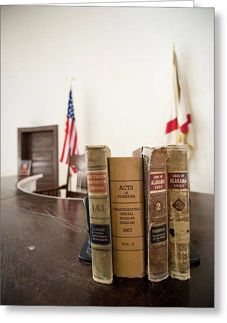 1930s Era Alabama Law Books Greeting Card by Panoramic Images