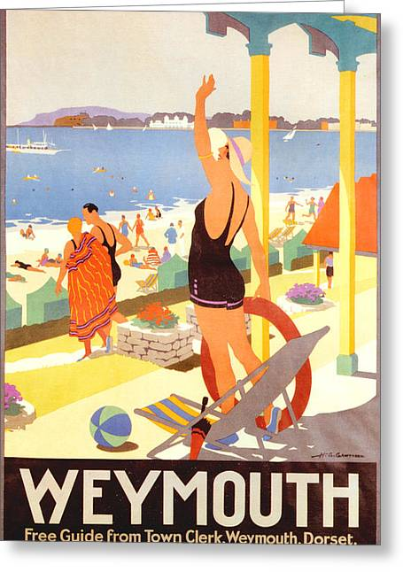 Southern Drawings Greeting Cards - 1930s Uk Southern Railway Poster Greeting Card by The Advertising Archives