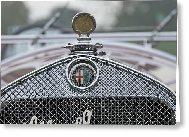 Motor Meter Greeting Cards - 1931 Alfa Romeo Greeting Card by Jack R Perry