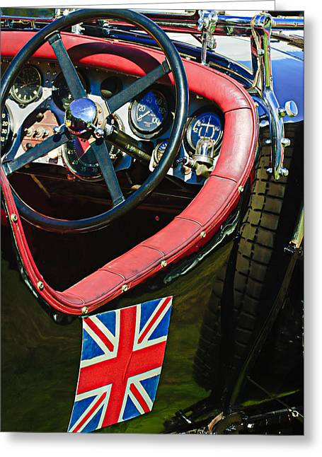Supercharged Greeting Cards - 1931 Bentley 4.5 Liter Supercharged Le Mans Steering Wheel -1255C Greeting Card by Jill Reger