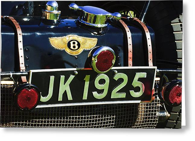 Supercharged Greeting Cards - 1931 Bentley 4.5 Liter Supercharged Le Mans Taillight Emblem Greeting Card by Jill Reger