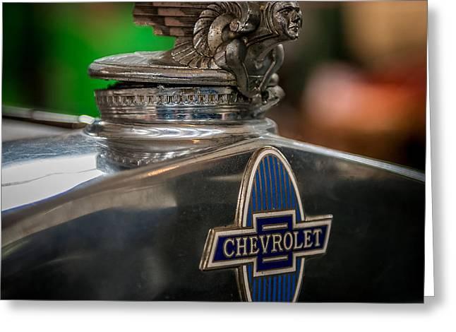 1931 Chevrolet Emblem Greeting Card by Paul Freidlund