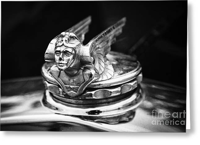 1951 Greeting Cards - 1931 Chevrolet Hood Ornament Greeting Card by Dennis Hedberg