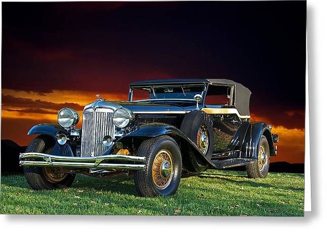 Limo Greeting Cards - 1931 Chrysler Imperial CG Greeting Card by Dave Koontz