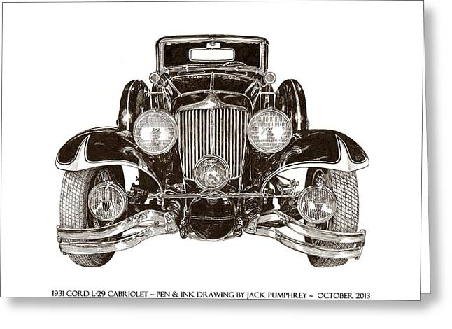 Drive In Style Greeting Cards - 1931 Cord Cabriolet L 29 Greeting Card by Jack Pumphrey