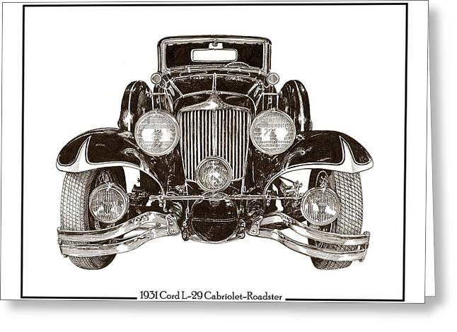 Drive In Style Greeting Cards - 1931 Cord L 29 Cabriolet Greeting Card by Jack Pumphrey