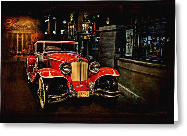 Old Automobile Greeting Cards - 1931 Cord L-29 Greeting Card by Maria Angelica Maira