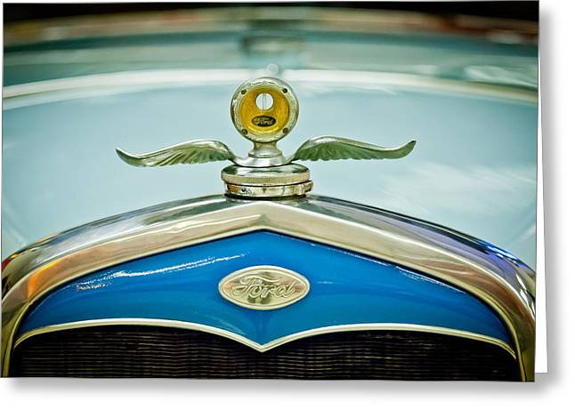 1931 Ford Emble - Moto Meter Hood Ornament Greeting Card by Jill Reger