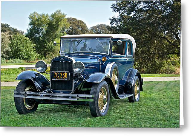 Model A Sedan Greeting Cards - 1931 Ford Model A 400 Convertible Sedan II Greeting Card by Dave Koontz