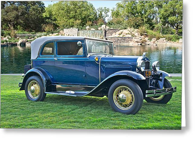 Model A Sedan Greeting Cards - 1931 Ford Model A 400 Convertible Sedan III Greeting Card by Dave Koontz