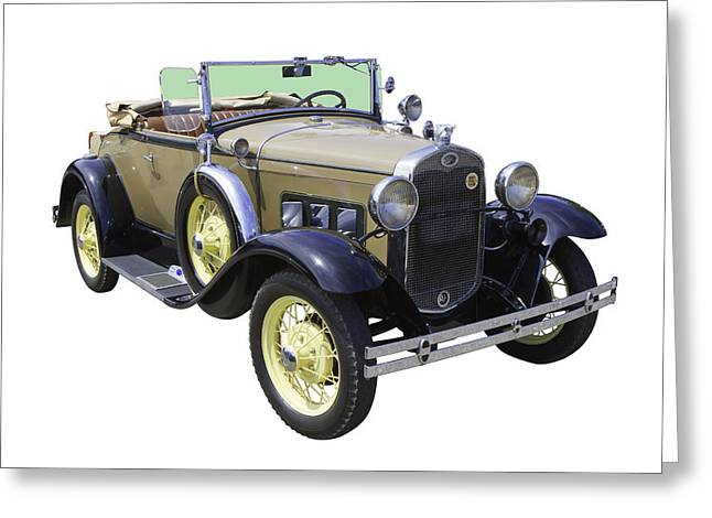 1930Õs Greeting Cards - 1931 Ford Model A Cabriolet Greeting Card by Keith Webber Jr