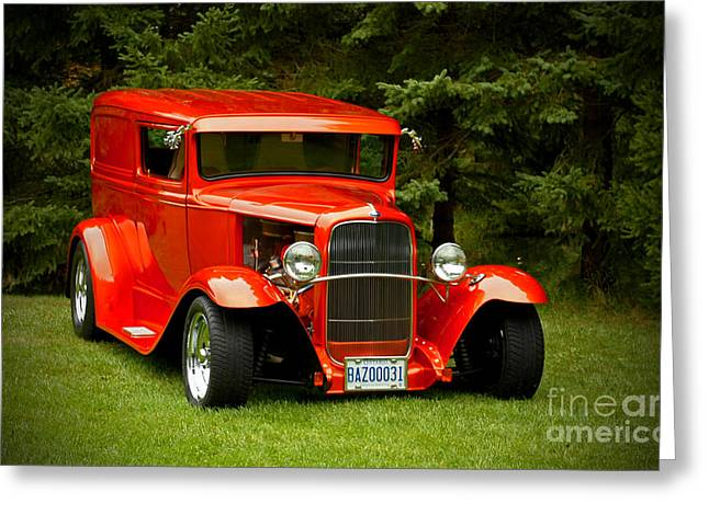 Shelley Myke Greeting Cards - 1931 Ford Panel Delivery Truck Greeting Card by Inspired Nature Photography By Shelley Myke