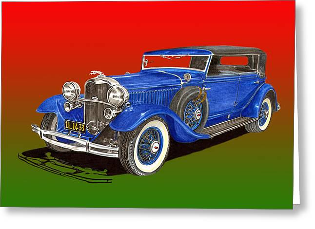 Replacing Paintings Greeting Cards - 1931 Lincoln K Four Door Convertible Greeting Card by Jack Pumphrey