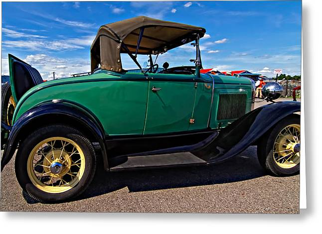 Rumble Greeting Cards - 1931 Model T Ford Greeting Card by Steve Harrington