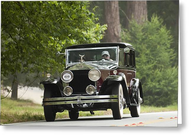 Car Show Photography Greeting Cards - 1931 Rolls-Royce Phantom I Brewster St. Andrews Greeting Card by Jill Reger