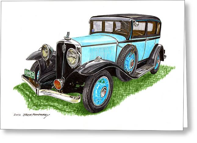 Indiana Paintings Greeting Cards - 1931 Studebaker President Greeting Card by Jack Pumphrey