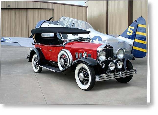 Side Panel Greeting Cards - 1931 Willys Knight Phaeton Sports Touring Greeting Card by Jack Pumphrey