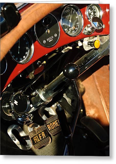 1750 Greeting Cards - 1932 Alfa Romeo 6C 1750 Series V Gran Sport Dashboard Greeting Card by Jill Reger