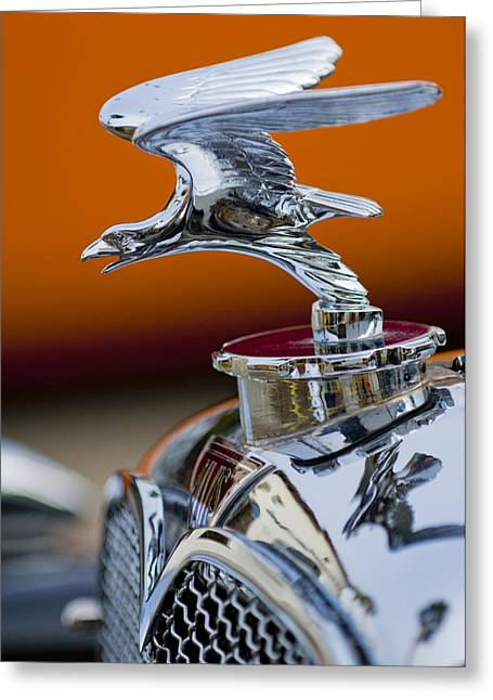 Car Mascot Greeting Cards - 1932 Alvis Hood Ornament 2 Greeting Card by Jill Reger