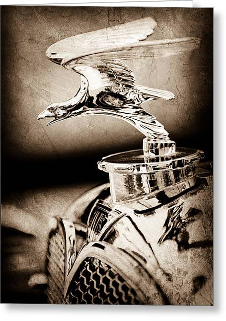 1932 Greeting Cards - 1932 Alvis Hood Ornament - Emblem Greeting Card by Jill Reger