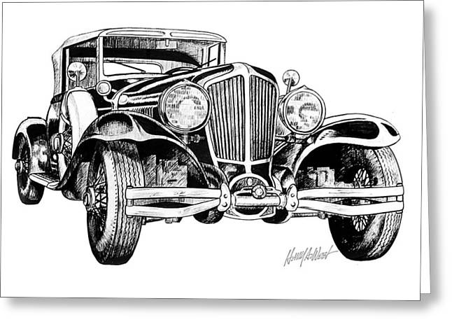 1930 Cord Greeting Card by Harry West