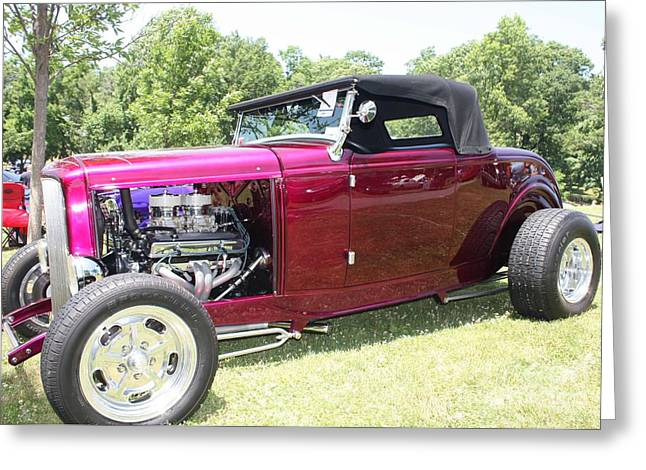 Black Top Greeting Cards - 1932 Ford Convertible Roadster Greeting Card by John Telfer